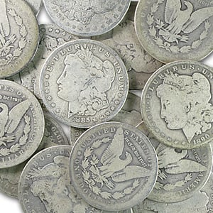 1878-1904 Morgan Silver Dollar VG-VF - Random Year - Click Image to Close