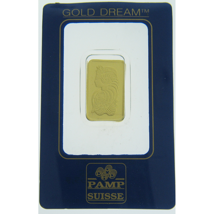 10 gram Gold Bar - PAMP Suisse Lady Fortuna Veriscan In Assay - Click Image to Close
