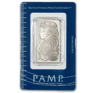 1 Ounce Pamp Suisse Palladium Bar 999 Fine With Assay - Click Image to Close