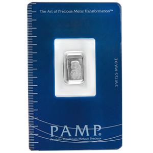 1 Gram Pamp Suisse Platinum Bar 999 Fine With Assay - Click Image to Close