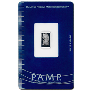 5 Gram Pamp Suisse Platinum Bar 999 Fine With Assay - Click Image to Close
