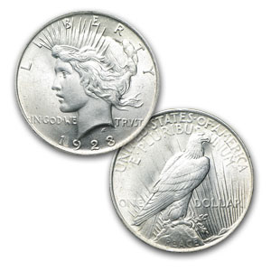 Silver Peace Dollar 1922-1935 VG-XF Condition - Click Image to Close