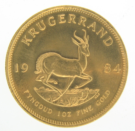 1984 1 oz Gold South African Krugerrand Coin