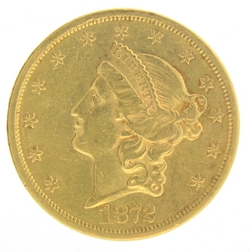 1872 S 20 Gold Double Eagle Liberty Coin De 20 Gold