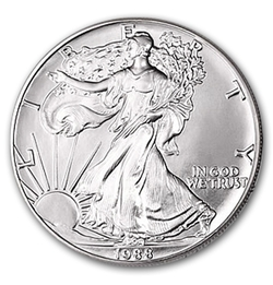 1988 1 Oz American Silver Eagle Coin With Air Tite Holder