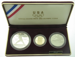 1992 US Mint Olympic 3 Proof Coin Set