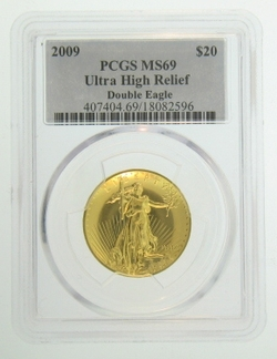 2009 Ultra High Relief Double Eagle PCGS MS-69 Gold Coin