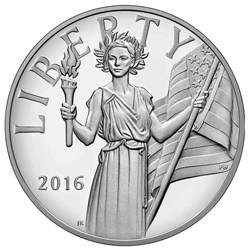2016 S American Liberty Silver Medal Proof With Box Amp Coa