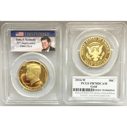 2014-W 3/4 oz Gold Kennedy Half Dollar PR-70 PCGS (First Strike)