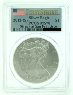 2012 San Francisco Mint American Eagle Silver Coin
