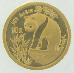 1993 1 10 Ounce Chinese Gold Panda Coin Sealed Cgp Tenth