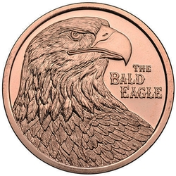 1 Avdp Oz The Bald Eagle Copper Round Cu 1 Be Round 3
