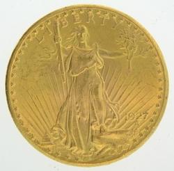 1927 20 Gold Double Eagle Saint Gaudens Coin Deg Oz Coin