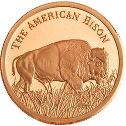 1 AVDP oz The American Bison Copper Round