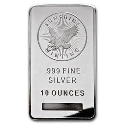 Reviews 10 Oz Sunshine Mint Silver Bullion Bar 999 Fine Silver Smb